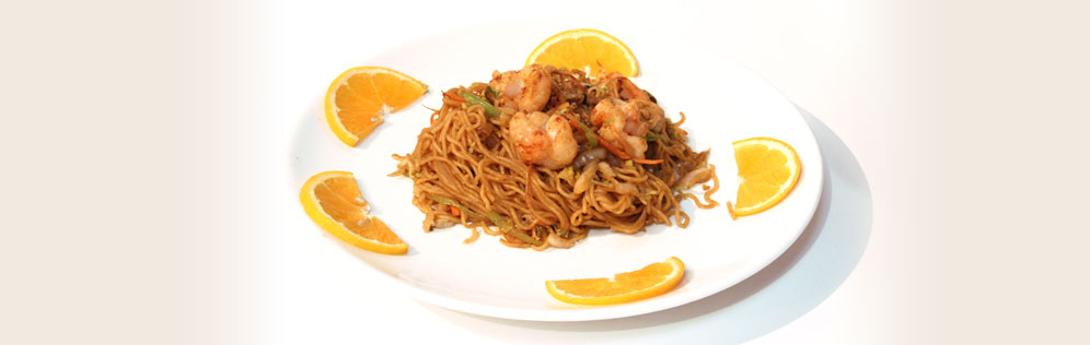 shrimp with noodles